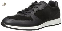 ECCO Women's Women's Sneak Tie Fashion Sneaker, Black, 39 EU/8-8.5