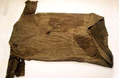 In  Act III scene iv, Lear famously rends his garments. There is considerable discussion among commentators re: lear was wearing something like this, or if he still wore his kingly garments  [ Norway ~Iron Age tunic]