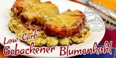 Low-Carb gebackener Blumenkohl mit Hähnchenbrust und Bacon - Goldbraun angebratener Blumenkohl, mit würziger Hähnchenbrust und Bacon, Mit Käse überbacken.