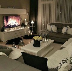 Classy living rooms interior designs classy living rooms room decor classy living room design ideas home . Cozy Living Rooms, Living Room Interior, Apartment Living, Home And Living, Living Room Decor, Living Spaces, Small Living, Cozy Apartment, Studio Apartment