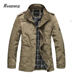 05a4c8e2d08b0 2017 Large Size Winter Men Jackets and Coats Leisure Windproof Thick Warm Jacket  Men s Long Trench Coat parka Clothing