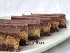 Orechový rez s kávou Slovak Recipes, Hungarian Recipes, Hungarian Food, Poppy Cake, Brownie Cookies, Kakao, International Recipes, Nutella, Sweet Tooth