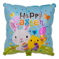 "Quadratischer Folienballon ""Happy Easter"""