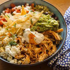 Honey-Chipotle Chicken Burrito Bowls with Cilantro Lime Quinoa | Spoon Fork Bacon