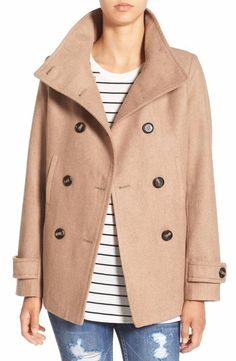 THREAD /& SUPPLY  CHIC DOUBLE BREASTED WOOL PEACOAT COAT   Sz S  Nordstrom  NWT