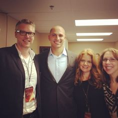 Lifeclass Producers backstage with Jimmy Graham...