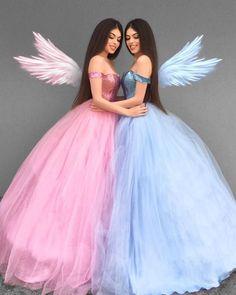Pink or Blue . ✨ Feeling like a Princess in our beautiful dresses from ✨Tag your Princess 👯✨Kızlar özel dikim… Sweet 16 Dresses, 15 Dresses, Ball Dresses, Pretty Dresses, Beautiful Dresses, Fashion Dresses, Girls Dresses, Colorful Prom Dresses, Wedding Dresses