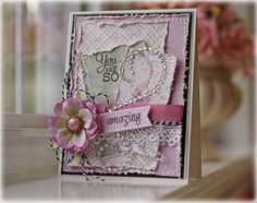 EwenStyle using Mojo Monday sketch Verve stamps, Maja Design papers and Zva Creative bling; Paper Cards, Diy Cards, Tarjetas Stampin Up, Card Making Designs, Card Designs, Shabby Chic Cards, Beautiful Handmade Cards, Marianne Design, Scrapbook Cards