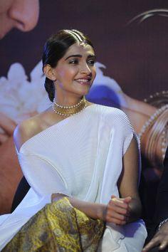 Sonam Kapoor Stills In White Dress