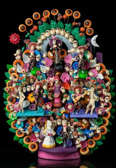 MUSEUM QUALITY TREE OF LIFE DAY OF THE DEAD HAND MADE METEPEC MEXICO SIGNED CLAY | Collectibles, Cultures & Ethnicities, Latin American | eBay!