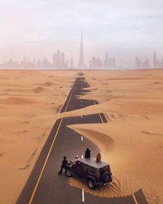 Amazing photo I desert road I Dubai
