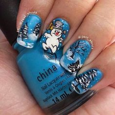15 Christmas Snowman Nail Art Designs Ideas 2016 Xmas Nails × Related posts: Top 100 popular ideas for Christmas nails designs to … Fancy Nails, Cute Nails, Pretty Nails, Christmas Nail Art Designs, Holiday Nail Art, Xmas Nails, Christmas Nails, Christmas Snowman, Holly Christmas