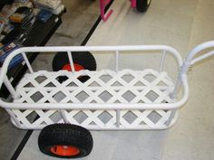 how to make a pvc beach fishing cart