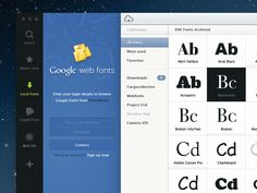 Some more of this project, now connecting to online services like google fonts...  Check the 2x size for 100% pixels and follow me on twitter for more updates :  http://www.twitter.com/claudioguglieri