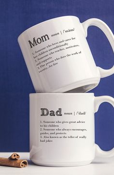 Cathy's Concepts 'Mom & Dad' Coffee Mugs (Set of 2)