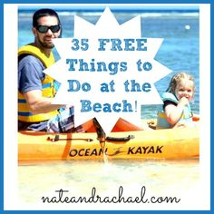 35 FREE Things to Do with Toddlers and Young Kids at the Beach!  from Nothing if Not Intentional