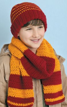 A nice simple scarf for a boy with easy to follow instructions crochet a few hats gloves and handwarmers for the entire family dt1010fo
