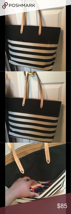 ❤️1 Hour Sale❤️ Never Used - Stella & Dot Tote This tote, which has now been retired from Stella & Dot, can be for everyday use and holds a ton! Whether you need it as a work tote, a diaper bag, or a gym bag, this tote will work well. There's a front pocket which is great for your phone, wallet, or a clutch. The inside has multiple pockets for your use. Stella & Dot Bags Totes