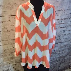 SZ 26/28 GORGEOUS BLOUSE BY CATO Very pretty semi sheer blouse in gently used condition Cato Tops Blouses