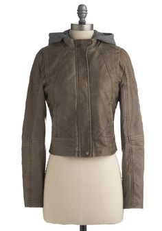 I love this! Freewheeling Jacket by Jack by BB Dakota - Brown, Grey, Long Sleeve, Fall, Winter, 2, Short