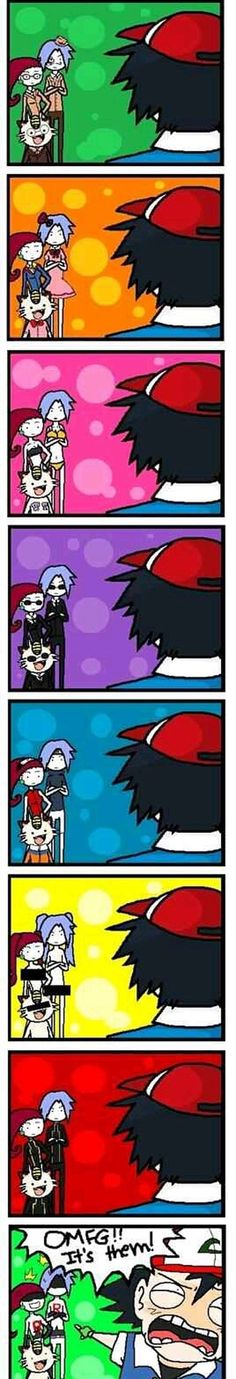 Team Rocket: The best masters of disguise in the book. Team Rocket: The best masters of disguise in the book. Pokemon Memes, Pokemon Pins, Pokemon Comics, Pokemon Funny, All Pokemon, Pokemon Stuff, Pokemon Pictures, Funny Pictures, Equipe Rocket