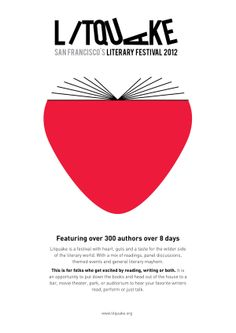 Litquake Literary Festival 2012 branding by Timothy Bray, via Behance