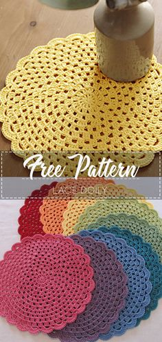 Terrific No Cost Crochet Doilies Strategies Lace Doily – Pattern Free – Easy Crochet Crochet Home, Crochet Gifts, Crochet Kitchen, Lace Doilies, Crochet Doilies, Crochet Design, Crochet Simple, Easy Things To Crochet, Crochet Placemats