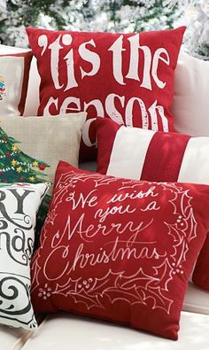 Beautiful Christmas pillows http://rstyle.me/n/rsa8rnyg6