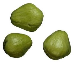 Peeling the Spiny Chayote Squash
