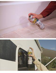 Flex Seal Clear. Liquid rubber in a can.