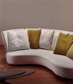 """Vladimir Kagan Classics Couture Embrace Sofa 118""""L 49""""D 34""""H Seat height: 17"""" COM: 26 Yards"""