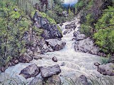 Горная река., автор Александр Воля. Артклуб Gallerix