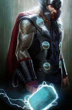www.justacote.com #justacoté #thor Thor by Marko Djurdjevic