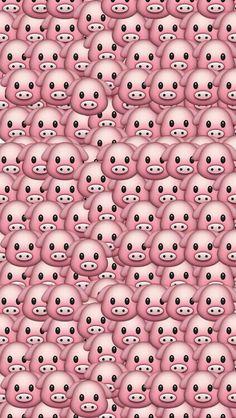 'Pig Emoji Pattern' iPhone Case by Rad Merch Pig Wallpaper, Wallpaper Animes, Homescreen Wallpaper, Tumblr Wallpaper, Wallpaper Iphone Cute, Disney Wallpaper, Cute Wallpapers, Wallpaper Backgrounds, Iphone Backgrounds