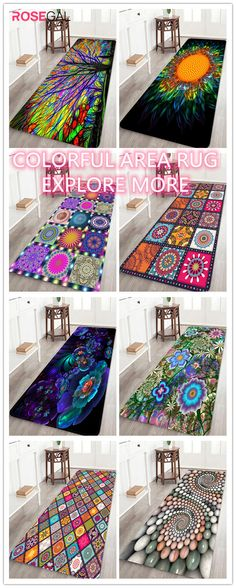 Rosegal fresh color rugs for bedroom livingroom colorful bath rugs abstract print rug ideas Winter Home Decor, Diy Home Decor, Latest Bed, Best Duvet Covers, Rough Wood, Interior And Exterior, Interior Design, Wedding Decorations On A Budget