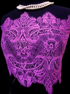 "USA Supplier 13"" Wide Bright Magenta Floral Stretch Nylon Lace Trim Bridal Wedding Eyelash Victorian Style Scalloped for Lingerie FJT1 LA"