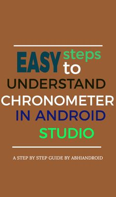 In Android, Chronometer is a class that implements a simple timer. Chronometer is a subclass of TextView. This class helps us to add a timer in our app. Android Studio, Android Developer, Step Guide, Resume, Ads, Learning, Simple, Studying, Teaching