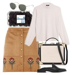 """""""Untitled #5692"""" by rachellouisewilliamson ❤ liked on Polyvore featuring Dorothy Perkins, Max&Co., Aspinal of London, Iris & Ink and Ray-Ban"""