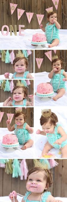 First Birthday Cake Smash Photo Shoot by valarie