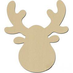 To design a moose or deer antlers yourself - Basteln - Haus Design Paper Christmas Decorations, Felt Christmas Ornaments, Christmas Svg, Tree Decorations, Reindeer Head, Christmas Hacks, Christmas Drawing, Deer Antlers, Diy Weihnachten