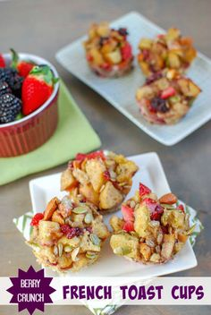 These Berry Crunch French Toast Cups - Perfect with Udi's Gluten Free bread!