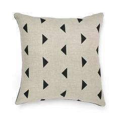 Triangles Cushion in Black 50cm
