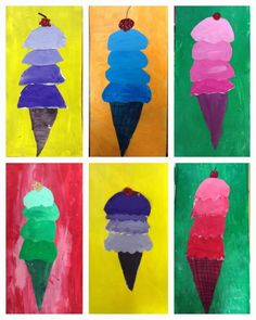 Exploring Art: Elementary Art: Grade Tint/Shade Ice Cream Cones (Cool Art Activities) Source by Color Art Lessons, Art Lessons For Kids, Art Lessons Elementary, Art For Kids, Science Lessons, 3rd Grade Art Lesson, Third Grade Art, Grade 1 Art, Sixth Grade