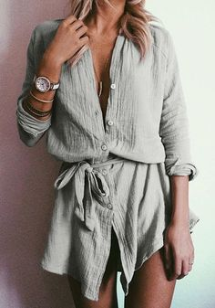 A modern twist to a classic shirt. #womensfashion