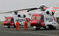 G-MCGE & G-MCGH SIKORSKY S-92 NEWCASTLE AIRPORT