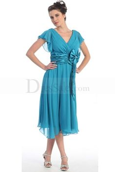 The Mother of Groom Dresses Knee Length Plus Size