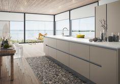 Kjøkkendesign til det moderne liv: Finn dine nye kjøkkenmøbler New Kitchen, Kitchen Dining, Kitchen Cabinets, Kitchen Ideas, Dining Room Inspiration, Interior Inspiration, Layout Design, European Kitchens, Cool Kitchens