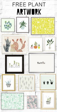 14+ FREE gorgeous plant artwork scenes for you to print, frame or hang!