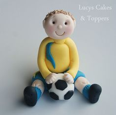 Football player birthday cake topper by Lucyscakesandtoppers.co.uk, via Flickr