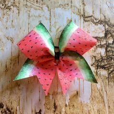 Excited to share the latest addition to my #etsy shop: Watermelon Bow/Cheer Bows/Glitter Cheer Bows/Summer Bows/Watermelon/Glitter Bows